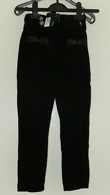 Bnwt Black Trousers With Twinkly Pocket Bows, Size 5-6 Yrs, M&S Autograph