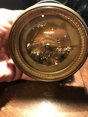 ANTIQUE FRENCH 2 TRAIN CLOCK MOVEMENT maker is R&C (Richard and Cie) 19 cent.