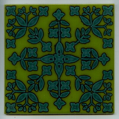 """Screen printed 6""""sq tile by Pilkington's + Carter, 1975"""
