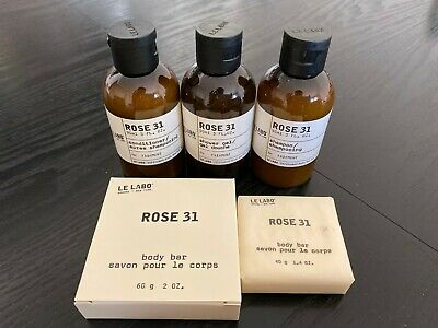 Le Labo Rose 31 Set (3oz) Fairmont Hotel - Shamp/Cond./Wash/Soapx2