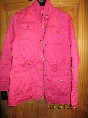 Girls/Ladies Fuscia Pink Quilted Jacket Age 15/16 Size 8/10 Next New