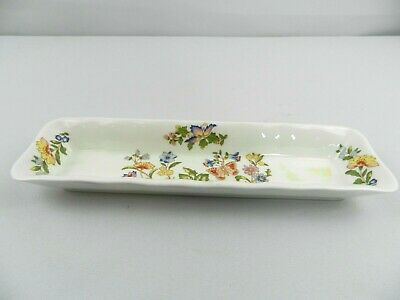 Aynsley Cottage Garden Small Rectangle Mint Dish Tray Bone China England