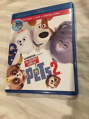 The Secret Life of Pets 2 (Blu-Ray/DVD, 2019)
