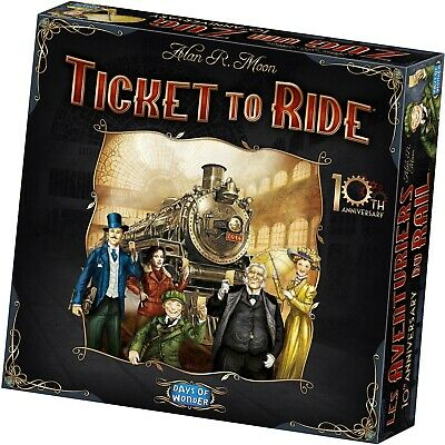Ticket to Ride 10th Anniversary Edition - Board Game - Sealed New Days of Wonder