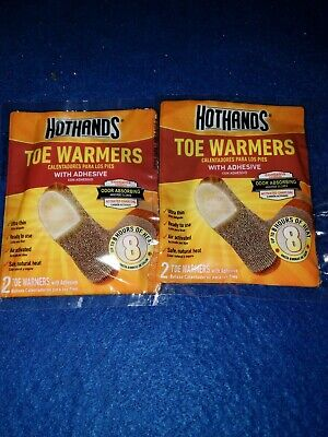 2 set HotHands Toe Warmers with Adhesive  Pair Safe Natural Odorless Heat ready