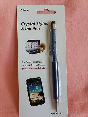 ALLARY Crystal STYLUS & INK PEN for SMART phone &Tablet RUBBER TIP TOUCH SCREEN