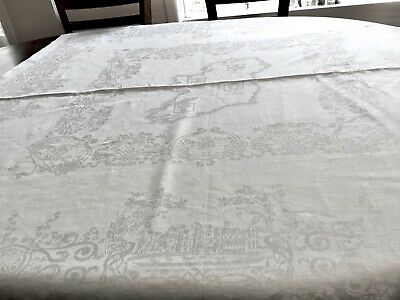 Double Damask Irish Linen Four Provinces Tablecloth
