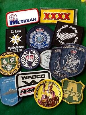 BARGAIN (10) PATCHES Council BEER Works Corrections Badges COLLECTABLE FREE POST