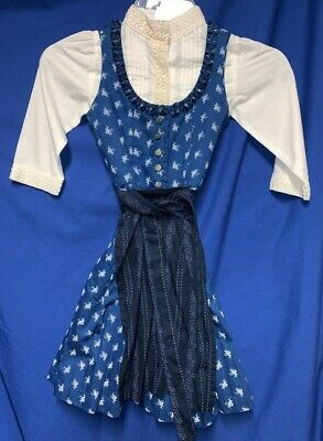 Girls Bavarian dirndl 3pc set US size 3/4 ( EU104)