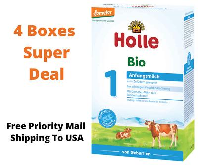 Holle Stage 1 Organic Infant Formula 4 Boxes 400g Original  German Free Shipping