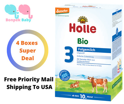 Holle Stage 3 Organic Baby Formula 4 Boxes 600g  Original Germany Free Shipping