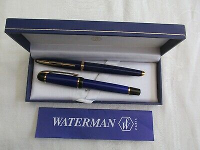 Boxed Waterman Paris Fountain Pen and Ball Pen As New and Paperwork