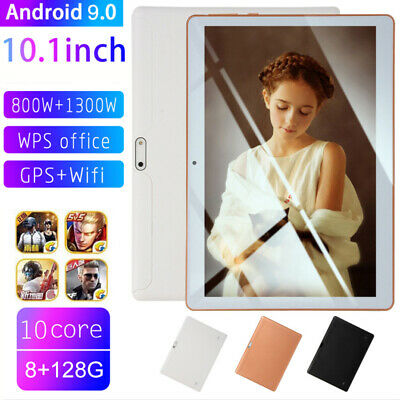 "10.1"" 4G-LTE Tablet PC 8G+128G 10 Core Android 9.0 Dual SIM Camera Wifi Phablet"