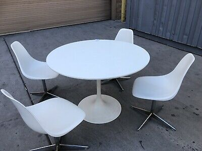 50's Retro Vintage Diner Dinette Set Table And Chairs Mid Modern