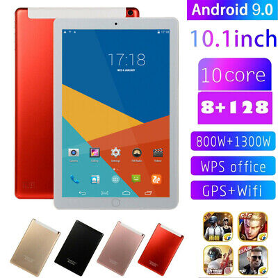 """10.1"""" inch 4G-LTE Tablet Android 9.0 bluetooth PC 128GB 2 SIM GPS Dual Camera"""