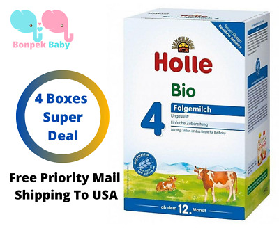 Holle stage 4 Organic Formula 4 Boxes 600g Original Germany Free Shipping