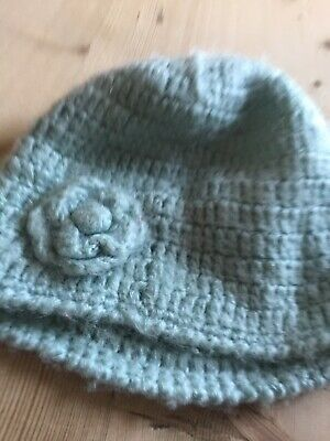 Baby Blue Colour Girls Knotted Hat Age 6-9 Years Approx