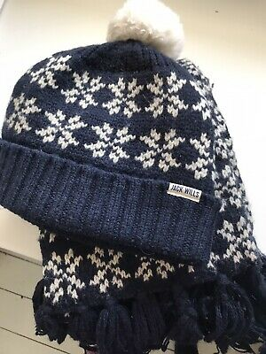 Jack Wills Hat And Scarf Set