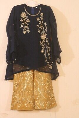 Girls Kurta Trouser Indian Pakistani Eid Party fancy Wedding  ready made Suit