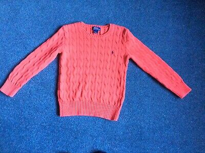 Polo Ralph Lauren Boys Cable Knit Jumper Age 6 Years