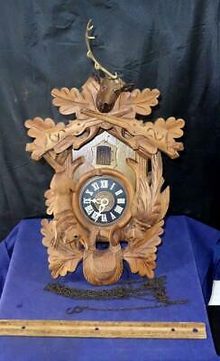 Vintage Cuckoo Clock Coo Coo Clock For Parts or Repair West Germany Regula !