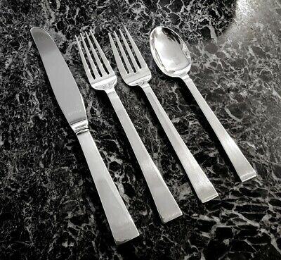 4pc Place Settings International Continental Sterling Silver No Monos 7 In Stock