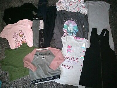 Girls Bundle 2 Dresses, 7 Tops, & 3 Joggers Age 7-8 Years