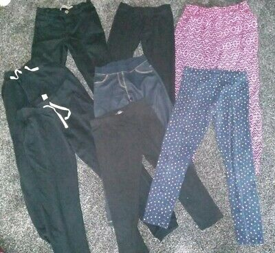 Bundle Of Girls Joggers, Jeans & Leggings Age 9-10 Years