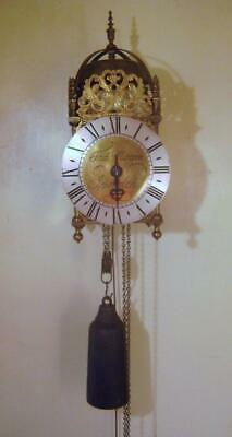 Hook and Spike Brass Lantern Clock Full Size Thos. Moore Ipswich 1960s Repro