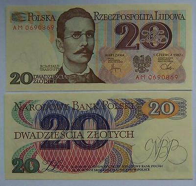 1982 - 20 zlotych - Polish banknote --- UNC new / Uncirculated