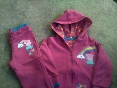 Peppa pig tracksuit age 2-3 from Marks and Spencers.
