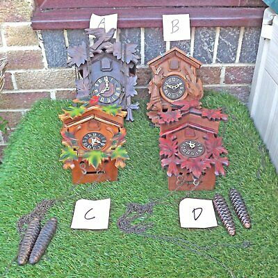 Four Cuckoo Clocks - For Spares Or Repair - Black Forest Clocks