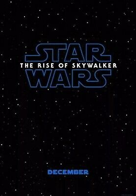 Star Wars The Rise Of Skywalker D/S 27 X 40 Original Theatrical Movie Poster