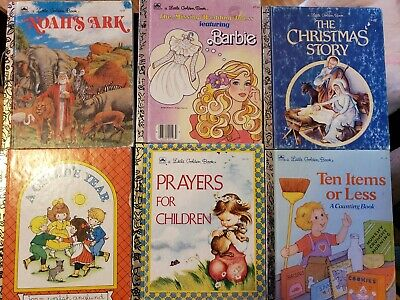 Lot of 12 A Little Golden Vintage Walt Disney/Warner Bros Classic Kids Books.