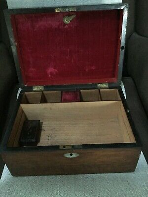 An Antique Mahogany Jewellery/Sewing Box
