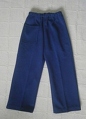 Vintage Jersey Trousers - 2-3  Approx - Navy- Front Pocket - Elastic Waist -New