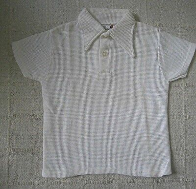 Vintage Ladybird Aircell Sports Shirt - Age 3-4 - White - Collar -New -Defects