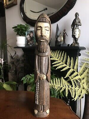 Antique Transylvanian Ethnic Carving Of A Friar, Priest Or Monk