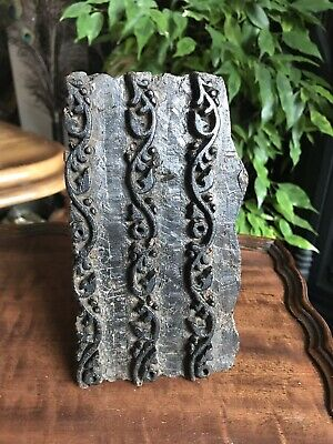 Wooden Antique Indian Fabric Printing Block