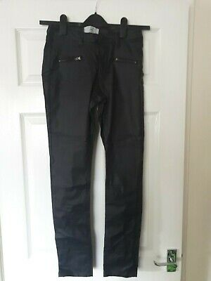 New Look Faux Leather Trousers - Age 14 - Excellent Condition