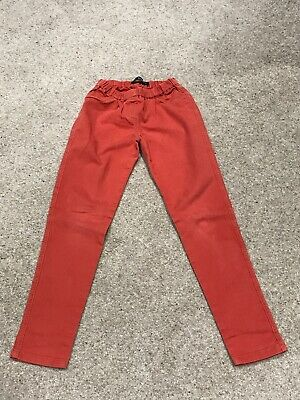 Girls Elasticated MINI BODEN Orange Jeggings/Leggings/Jeans/Trousers 12 Yrs