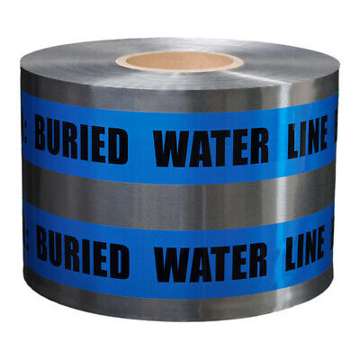 Presco Underground Detectable Tape: 6 in. x 1000 ft. Blue/Black CAUTION BURIED W
