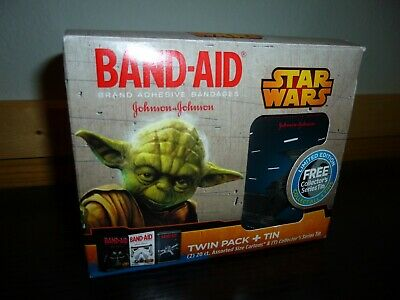Star Wars VADER'S TIE FIGHTER BAND-AID Collectors Series twin pack + Tin