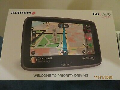 TomTom Go 6200 Wi-Fi Satellite Navigation with Lifetime Europe Maps