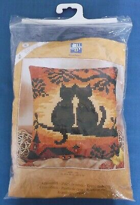 Vervaco Sunset Cats Cushion Front Cross Stitch Tapestry Kit Unused