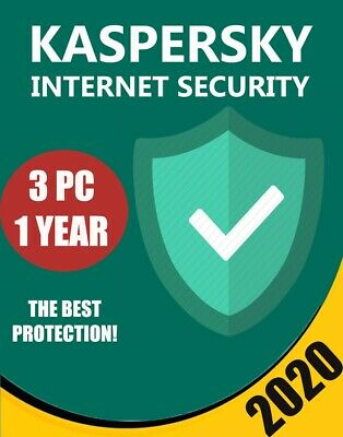 Kaspersky Internet Security 2020 3 PC Device 1 year BEST PROTECTION ANTIVIRUS