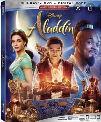 ALADDIN (2019) WILL SMITH / (BLU-RAY+DVD+DIGITAL) Ships On Release Date 09/10/19