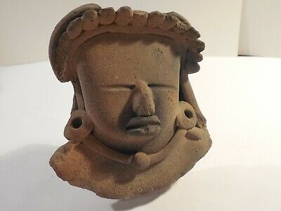 Big Vera Cruz Remojadas Head Pre-Columbian Antiquity Ancient Artifact Mayan #3