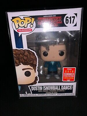 Funko POP Dustin (Snowball Dance) Stranger Things 2018 SDCC Exclusive #617. W/P