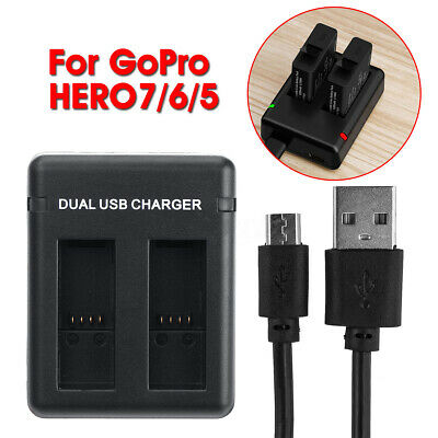 Fast Charging Dual Charger USB Cable AHDBT-501 Battery For GoPro HERO 7 6 5